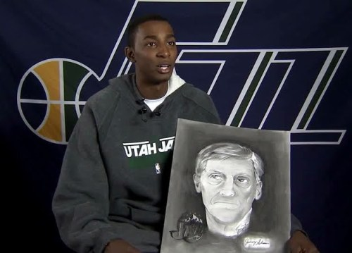 Jeremy Evans' Portrait of Jerry Sloan