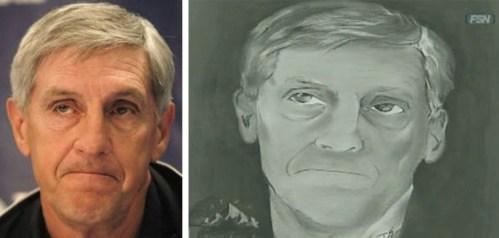 Jeremy Evans' Portrait of Jerry Sloan