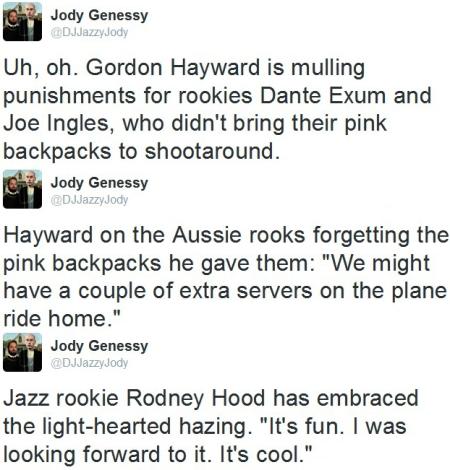 hazing tweets