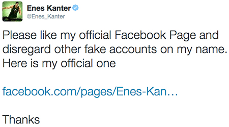 enes fb tweet