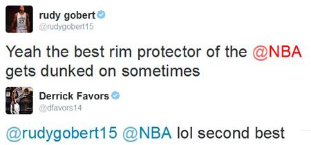 gobert favors tweets