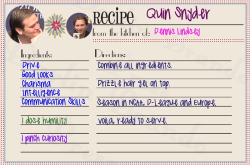 quin snyder recipe