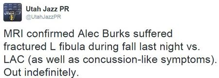 burks injury