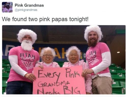 pink grandmas tweet